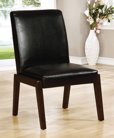 Set of 2 Haley Bonded Leather Match Dining Chairs - Bar Stool Co.