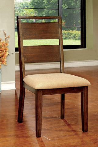 Set of 2 Furniture of America Adeena Slat Back Dining Chairs - Bar Stool Co.