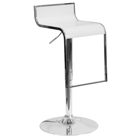 Adjustable Height Bar Stool with Chrome Drop Frame - Bar Stool Co.