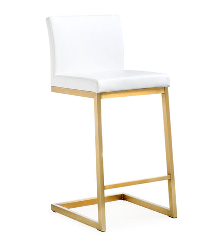 Set of 2 - TOV Furniture Parma Counter Stool - Gold