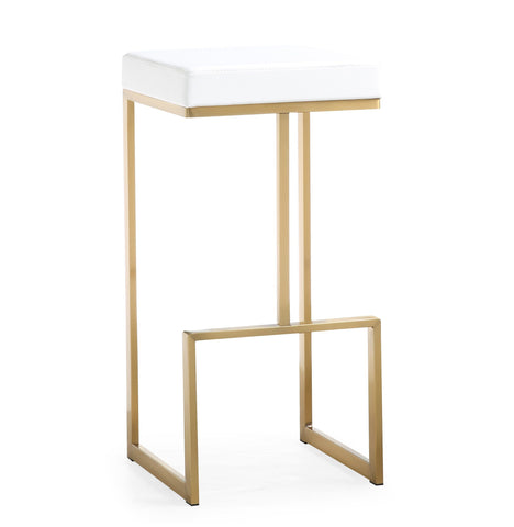 "Set of 2- TOV Furniture Ferrara 29.5"" Barstool - Gold"
