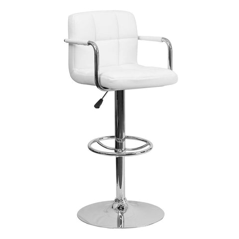 Flash Furniture CH-102029 Contemporary Adjustable Height Swivel Bar Stool with Foot Rest - Bar Stool Co.