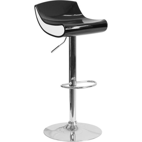 Contemporary Plastic Barstool with Chrome Base - Bar Stool Co.