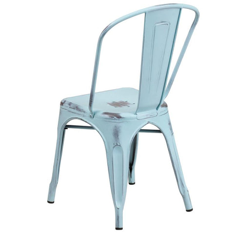 Distressed Oxford Metal Chair   Bar Stool Co.