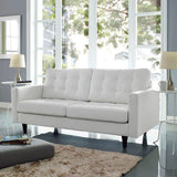 Modway Empress Bonded Leather Loveseat
