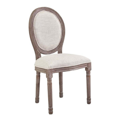 Modway Emanate Vintage French Fabric Dining Side Chair