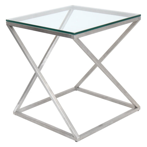 LumiSource 4Z Glass Top End Table