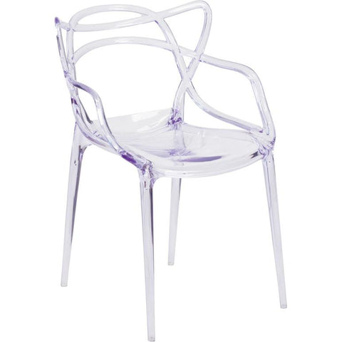 Flash Furniture Nesting Transparent Side Chair - Bar Stool Co.
