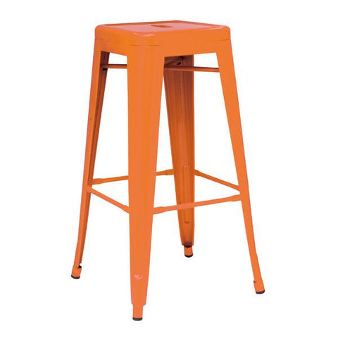 Set of 4 Metropolis 26  Metal Backless Counter Stools - Bar Stool ...  sc 1 st  Bar Stool Co. - Shopify & Set of 4 Metropolis 26