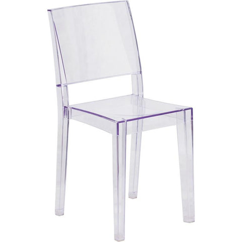 Flash Furniture Transparent Stacking Dining Chair - Bar Stool Co.