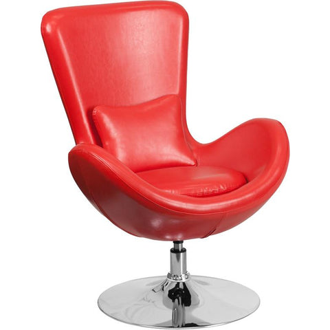 Flash Furniture Leather Egg Chair