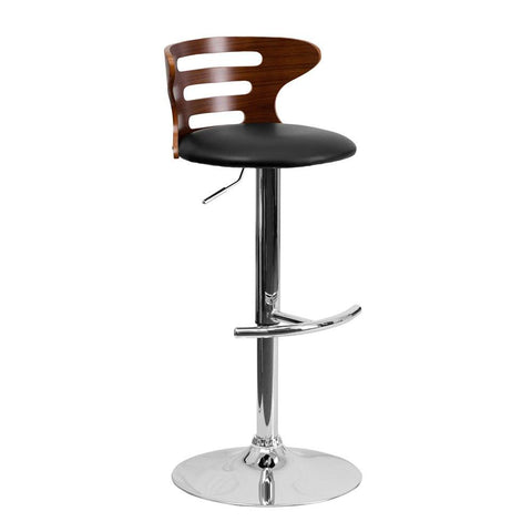 Flash Furniture SD-2019 Adjustable Height Bentwood Bar Stool - Bar Stool Co.