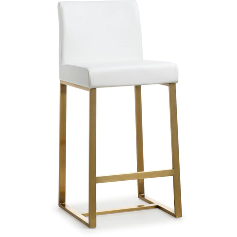 Set of 2 - TOV Furniture Denmark Counter Stool with Gold Base