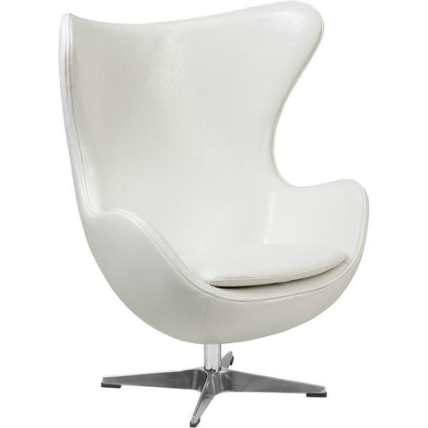Flash Furniture Leather Egg Lounge Chair   Bar Stool Co.