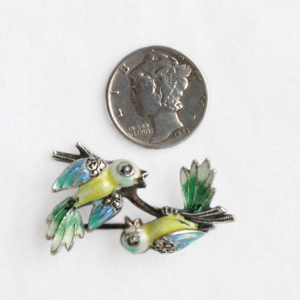 Alice Caviness Birds on a Branch Pin Size - Flotsam from Michigan - 2