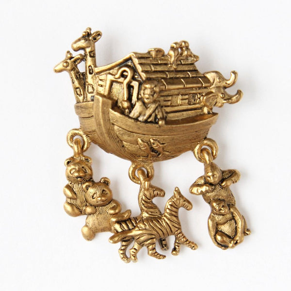 Avon Noah's Ark Figural Charm Pin - Flotsam from Michigan  - 1