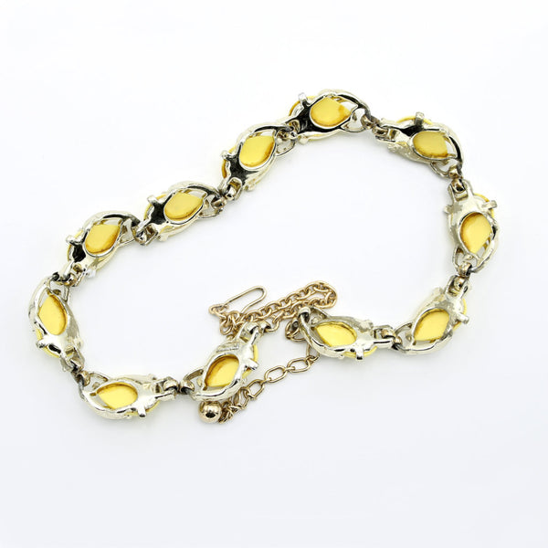 Bogoff Yellow Necklace Back - Flotsam from Michigan - 2