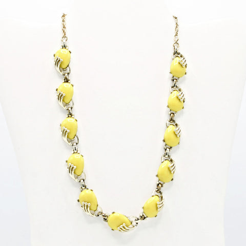 Bogoff Lemon Yellow Thermoset Necklace