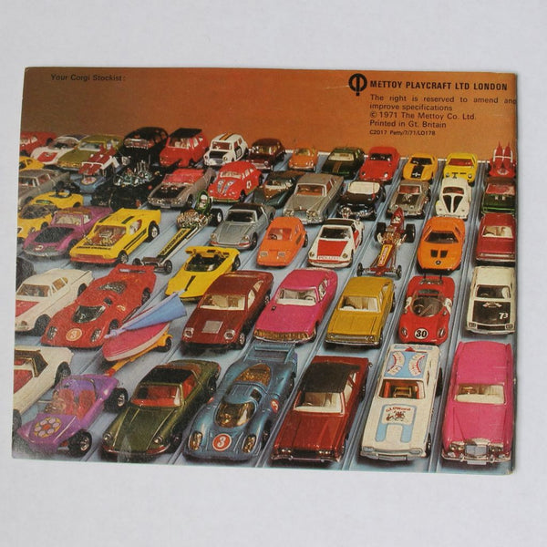 Corgi Toys Die Cast Cars Catalog 1971/72 Very Good Condition - Flotsam from Michigan  - 2