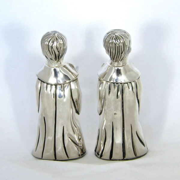 Vintage Godinger Silverplate Choirboy Salt & Pepper Shakers - Flotsam from Michigan  - 2