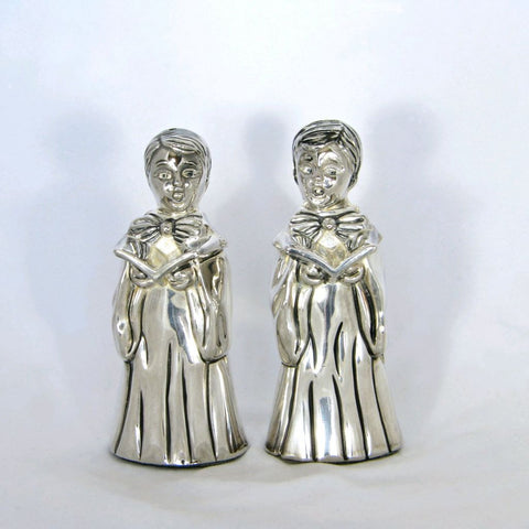 Vintage Godinger Silverplate Choirboy Salt & Pepper Shakers - Flotsam from Michigan  - 1