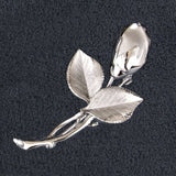 Vintage H. S. Bick Sterling Roses Brooch Closeup - Flotsam from Michigan - 2