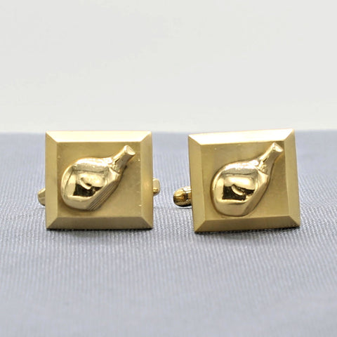 Hickok Golf Club Cufflinks Vintage Men's Jewelry