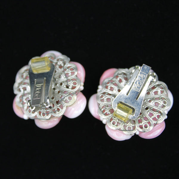 Hobe Pink Earrings Back - Flotsam from Michigan - 2