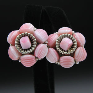 Hobe Pink Earrings - Flotsam from Michigan - 1