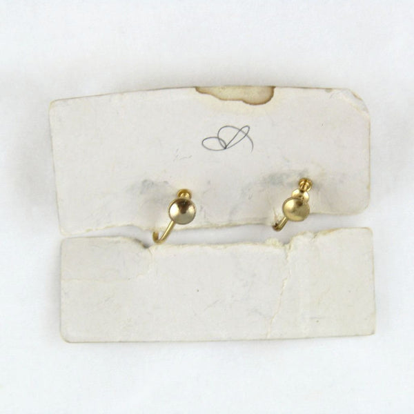 Vintage Plastic Floral Screwback Earrings Card Back - Flotsam from Michigan - 2