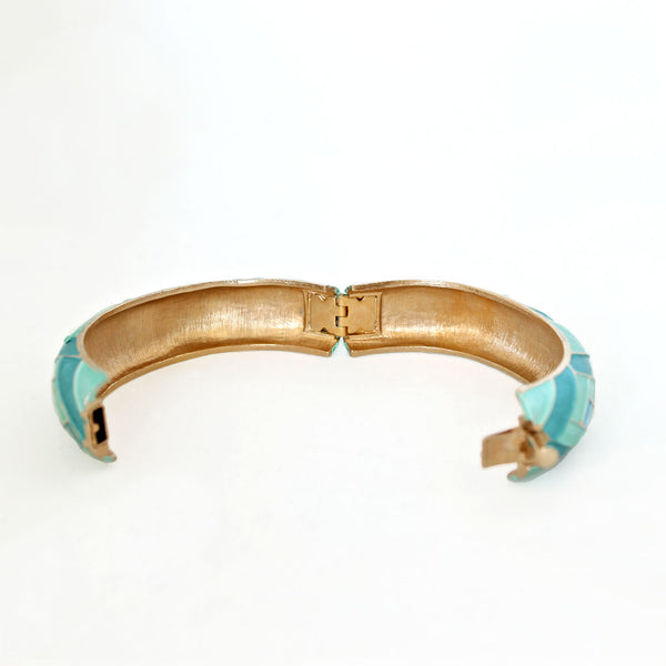 Kramer Aqua Bracelet open - Flotsam from Michigan Vintage - 3
