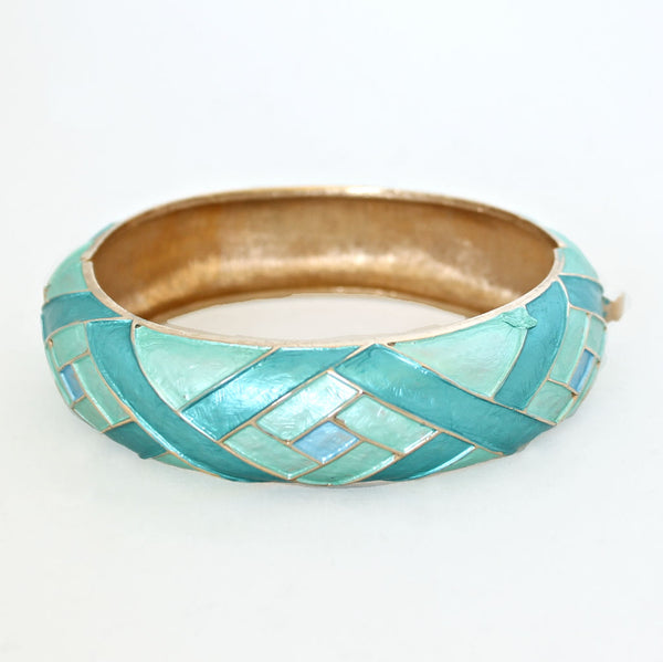 Kramer Aqua Bracelet right - Flotsam from Michigan Vintage - 2