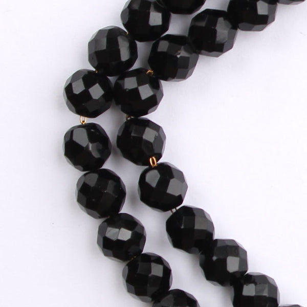 Lisner Black 2-Strand Bead Choker Necklace Mid-Century Vintage - Flotsam from Michigan  - 3
