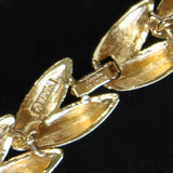 Napier 'Club 90' Vintage Goldtone Polished & Textured Choker Necklace - Flotsam from Michigan  - 3