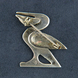 Sterling Silver Overlay Pelican Bird Figural Brooch Pin - Flotsam from Michigan  - 2