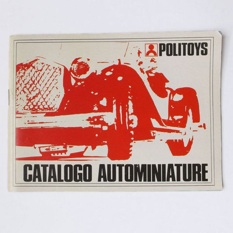 Politoys Die Cast Miniature Cars Catalog Circa 1970 G+