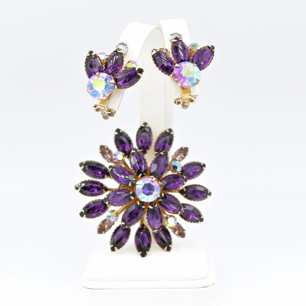 Purple Rhinestone Atomic Set - Flotsam from Michigan - 1