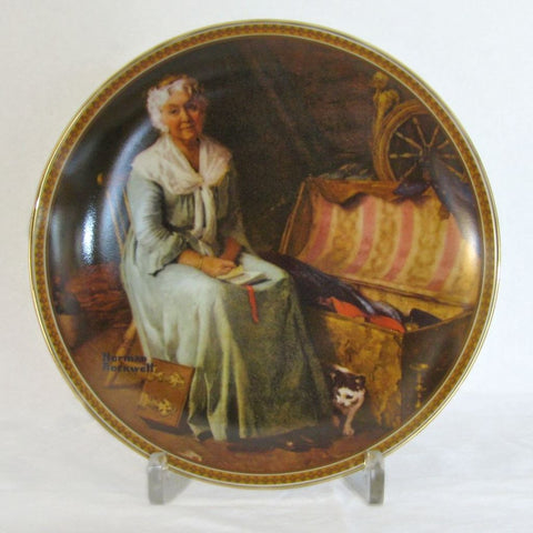 "Norman Rockwell Knowles Plate ""Reminiscing in the Quiet"" - Flotsam from Michigan  - 1"