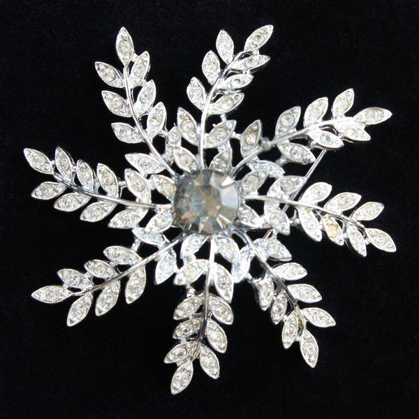 Sarah Coventry Evening Snowflake Vintage Brooch & Earrings Set - Flotsam from Michigan  - 2