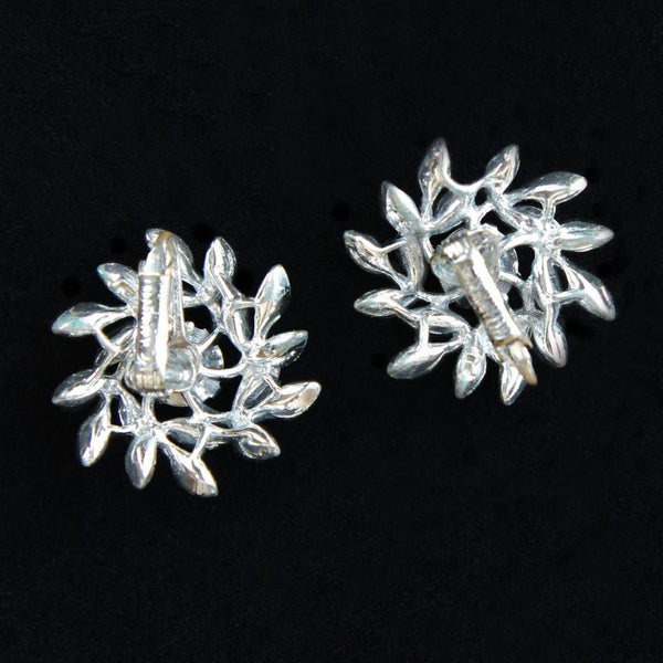 Sarah Coventry Evening Snowflake Vintage Brooch & Earrings Set - Flotsam from Michigan  - 6