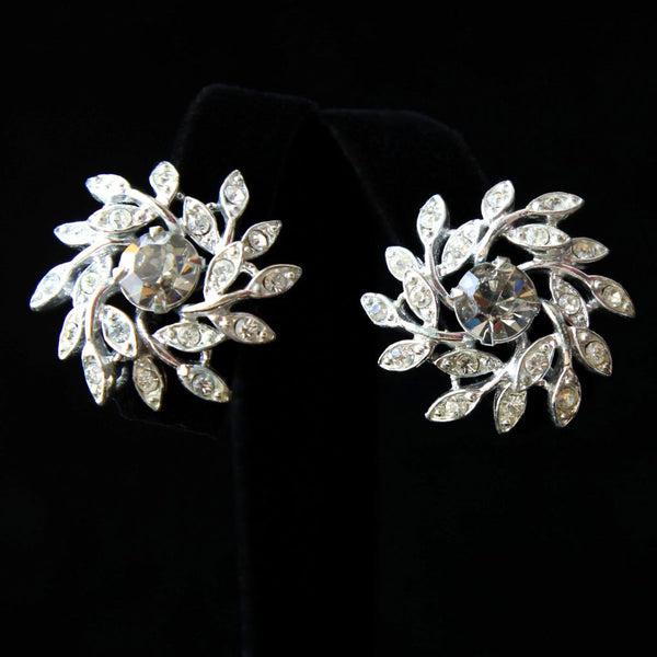 Sarah Coventry Evening Snowflake Vintage Brooch & Earrings Set - Flotsam from Michigan  - 3