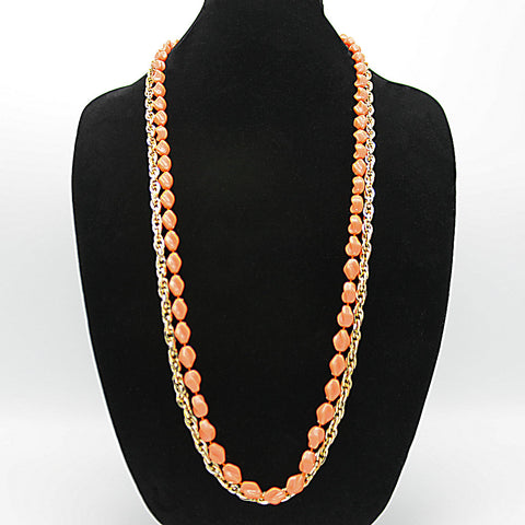 Sarah Coventry 'Holiday Beads' & Chain Double Necklace