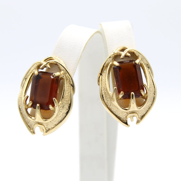 Sarah Coventry Molten Topaz Earrings - Flotsam from Michigan - 1