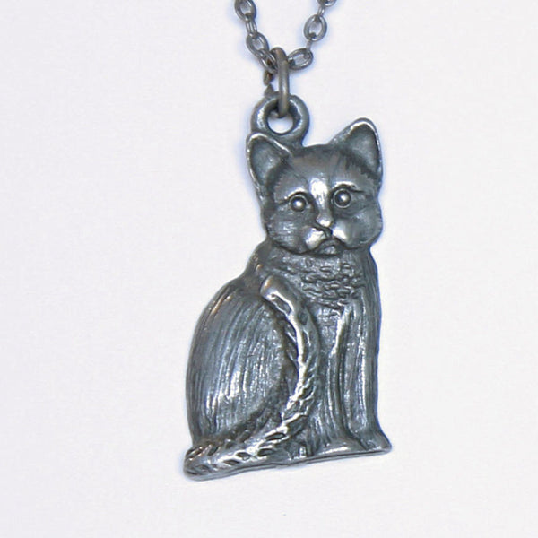 Spoontiques Cat Pendant Closeup - Flotsam from Michigan Vintage - 2