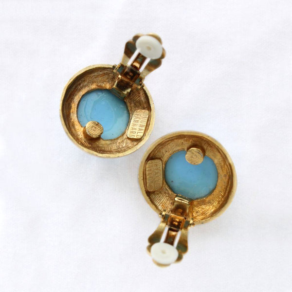 Donald Stannard Blue Cab Clip Earrings Backs - Flotsam from Michigan - 3