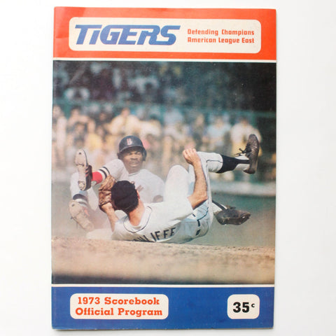 Detroit Tigers 1974 Scorebook Official Program Vintage Baseball Ephemera