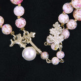 Vendome Pink, White and Crystal Necklace Signature - Flotsam from Michigan - 3