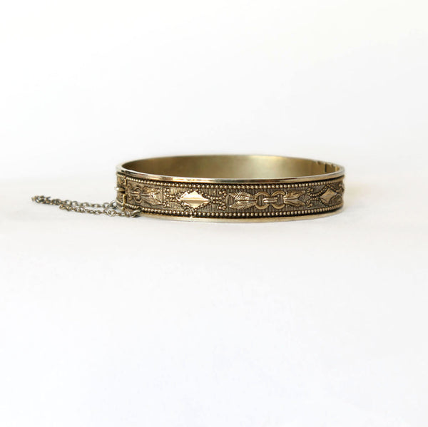 Whiting & Davis Vintage Hinged Bangle Bracelet
