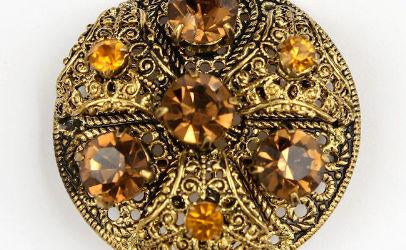 amber filigree pin