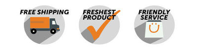 Free Shipping. Freshest Product. Friendly Service.